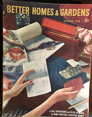 October 1938 issue of The Better Homes & Gardens  Magazine