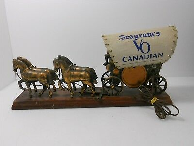 Seagram's Whiskey VO Canadian Horse & Wagon Lamp for Parts & Repair