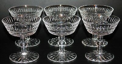 Set of 6 Beautiful Waterford Crystal Maeve Tramore Sherbet or Champagne Glasses