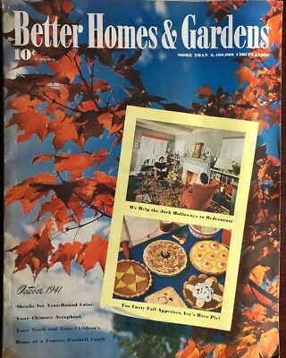 October 1941 issue of The Better Homes & Gardens  Magazine
