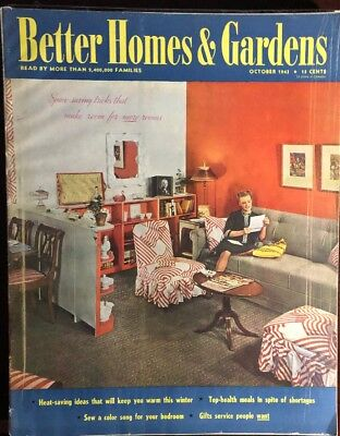 October 1943 issue of The Better Homes & Gardens  Magazine