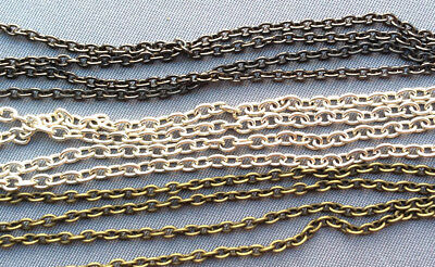 Oval Chain Thick Small Iron Chain Destash Jewelry Beading Chain 3mm x 2mm 12ft