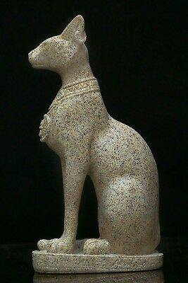 Ancient Egyptian Goddess Egypt Antiques Bastet Bast Cat Statue Carved Stone