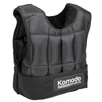 Komodo 30Kg Weighted Vest Home Gym Fitness Top Jacket Fast Delivery New