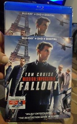 MISSION: IMPOSSIBLE FALLOUT Blu-Ray + DVD + Digital NEW Sealed w/ Slipcover