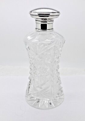 Roberts & Dore London 1928 Sterling Silver Topped Cut Crystal Liquor Decanter