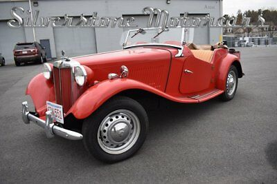 1952 MG TD  1952 Red Roadster Classic Convertible 4 Speed