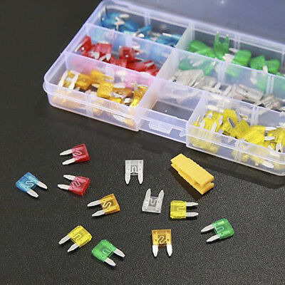 120 Pcs/Box Auto Car Motorcycle SUV Fuses Kit Mini Blade Fuse Assortment Set New