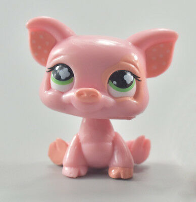 LPS Toys Cute Green Eyes Piglet Littlest Pet Shop Collection Action Figure Toys