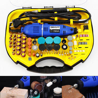 211pcs Electric Rotary Tool Set Mini Drill Grinder Engraver Sander Polisher AU
