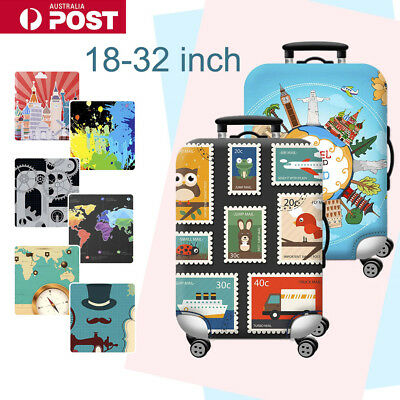 "Elastic Travel Luggage Suitcase Cover Protector Dustproof Case Bag 18""-32'' AU"
