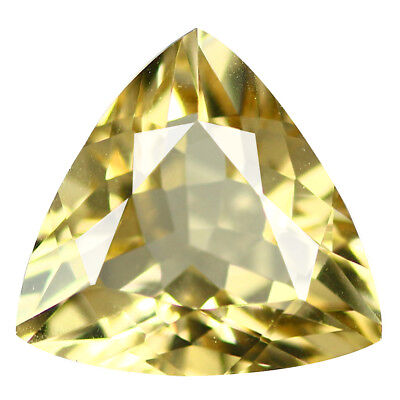 1.76Ct Trillion cut 9 x 9 mm 100% Natural AAA Yellow Beryl