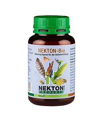 Nekton Bio Vogel Gepudert Vitamin Feder Wachstums 156ml Gut durch 01-2019