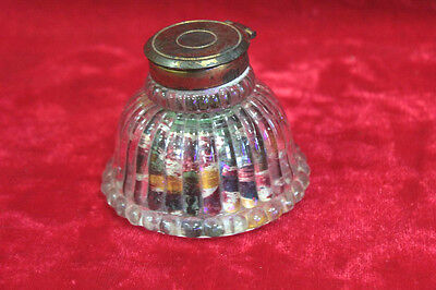 Old Vintage Antique Glass All-Pin Box Home Decor Collectible PL-70