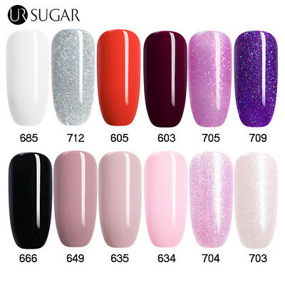 Ur Sugar 7.5ml Unghie UV Smalto Gel Soak Off Nail Art UV Led Gel Smalto Glitter