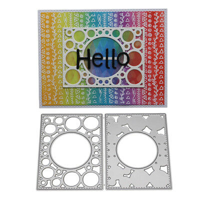 Circle Frame Cutting Dies Stencil DIY Scrapbooking Paper Card Embossing Craft