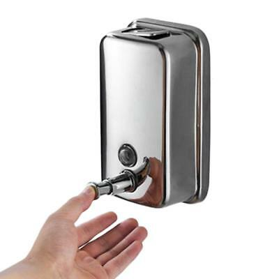 Bathroom Stainless Steel Shampoo Dispenser Lotion Pump Action Wall Mounte GL