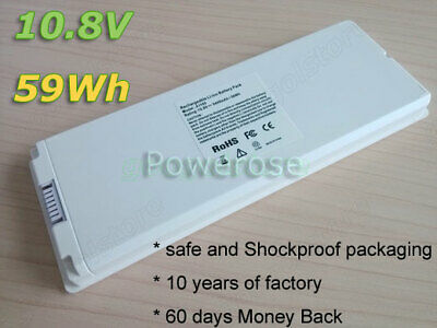 "Battery A1185 for Apple MacBook 13"" Late 2006 2007 2008 2009 A1181 White 10.8V"