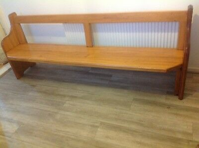 Lovely Antique Pine 7 Ft Church Pew