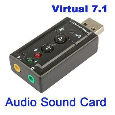 Mini USB 2.0 3D Virtual 12Mbps External 7.1 Channel Audio Sound Card Adapter MT