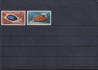 068811 Fische Fish Nouvelle Caledonie 408-09 ** MNH Year 1964