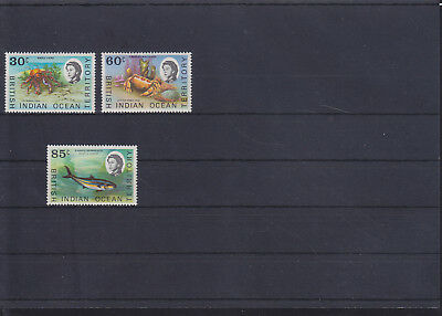 068840 Fische Fish ... British Indian Ocean Territory 36-38 ** MNH Year 1970
