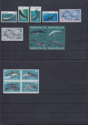 068849 Wale Whales ... Stamps Briefmarken ** MNH - Lot