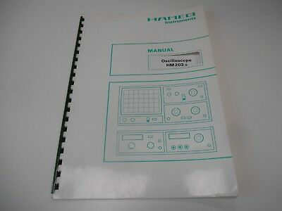 Hameg HM203 -5 Oscilloscope Instruction Manual Circuit Diagram