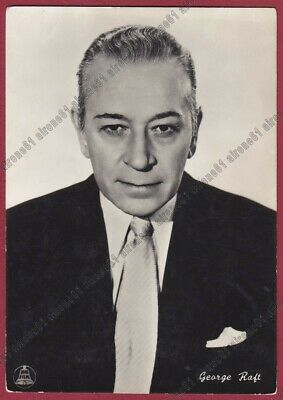 GEORGE RAFT 02 ATTORE ACTOR CINEMA MOVIE USA Cartolina FOTOGRAF. - DEFECTS !!!