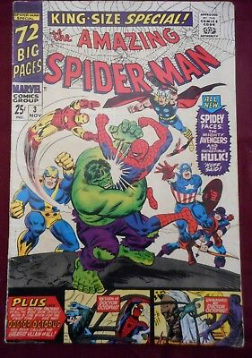 The Amazing Spider-Man Annual #3 (Nov 1966, Marvel), Silver Age, nice mid-grade