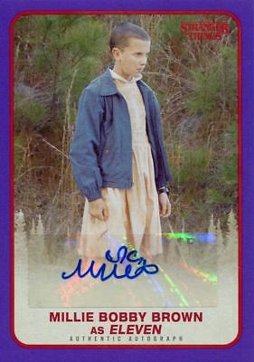 Stranger Things Season 1 Purple [25] Autograph Card Millie Bobby Brown as Eleven