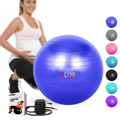 Exercise Gym Ball Anti Burst Swiss Birthing Yoga Fitness Workout Balls Pump 75cm