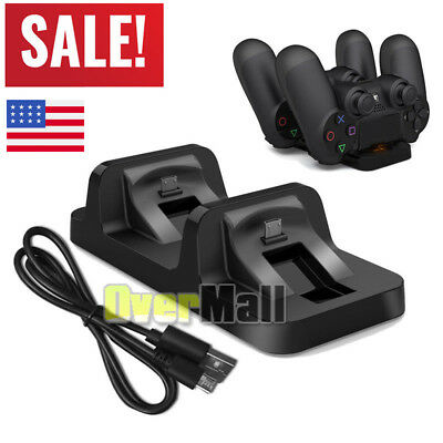 Dual USB Charging Dock Station Fast Charging Charger Stand for Playstation 4 PS4