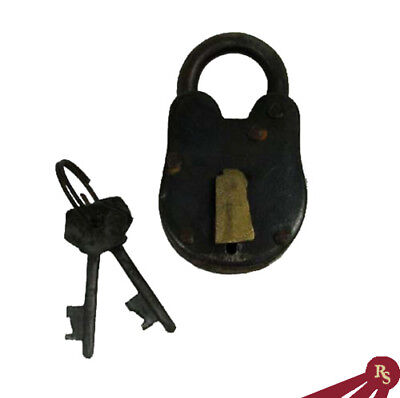 "2.75"" ANTIQUE STYLE LOCK - Padlock and Keys - PIRATE"