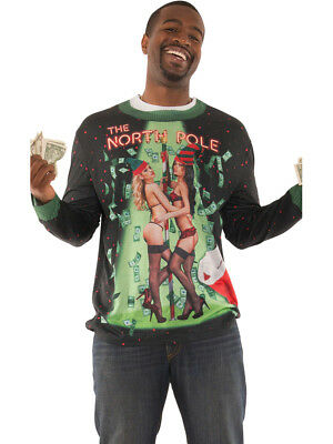 Adult's Funny Faux Ugly Christmas Sweater The North Pole Shirt