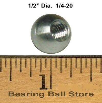 "Five 1/2"" dia. threaded 1/4-20 aluminum balls knobs"