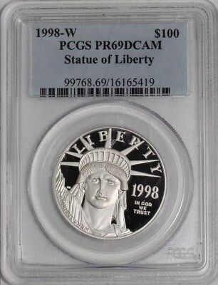 1998-W $100 Statue of Liberty - Platinum Eagle #939284-1 PR69 DCAM PCGS