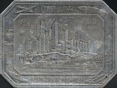 A Century of Progress Chicago 1933 World's Fair - Silver Hot Pad Trivet 789632