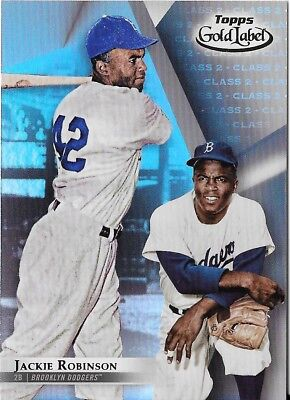Jackie Robinson 2018 Topps Gold Label Class 2 Scarce Dodgers #25
