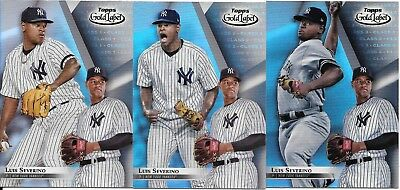 Luis Severino 2018 Topps Gold Label LOT (x3) CLASS 1-2-3 SET Yankees #72