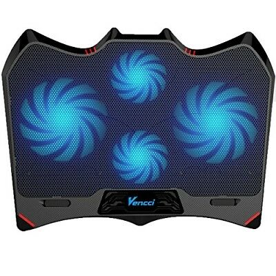 Laptop Cooling Pad, Vencci Laptop Cooler Chill Mat with 4 Quiet Fans USB Powered