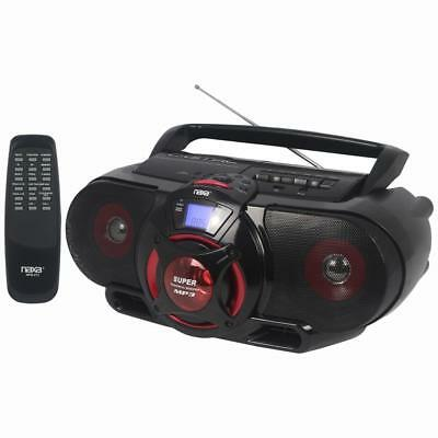 Naxa Portable Bluetooth MP3/CD AM/FM Cassette Recorder with Subwoofer and USB In