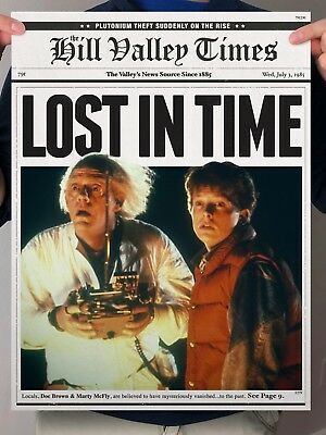 Back to the Future Marty McFly Doc Brown Newspaper Poster Print