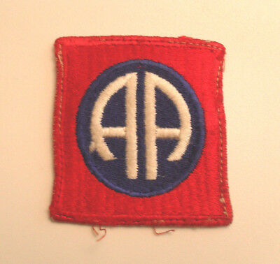 Great D-Day 82Nd Airborne Patch Off Jacket No Glow Original Cut Edge