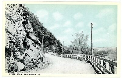 Duncannon PA - VIEW ALONG STATE ROAD - Postcard Perry County