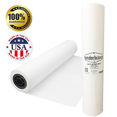 """White Kraft Butcher Paper Roll - 18 """" x 175 ' (2100 """") White Wrapping Pape"""