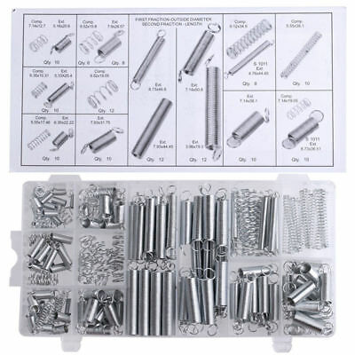 200Pc Assorted Springs Extension Tension Compression Extended Compressed