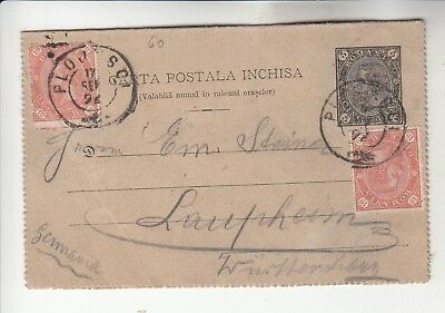 Interesting Romania Postal Card w/ stamps