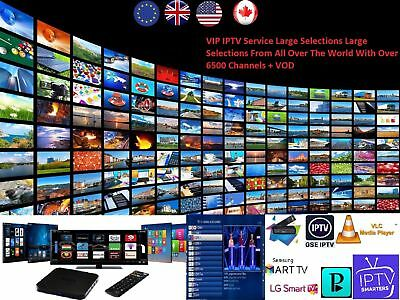 BEST PREMIUM IPTV Server 6500+ Chan & VOD + ADULT SMART MAG Android FireStick