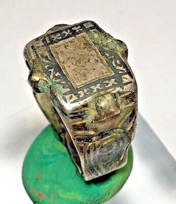 VERY NICE MEDIEVAL SILVER RING WITH LETTERS 6,3gr 20,1mm (inner 16,6mm)